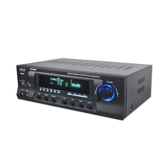 Hybrid Amplifier Receiver - Home Theater Stereo System, Bluetooth Streaming, MP3/USB/SD Readers, AM/FM Radio, 300 Watt