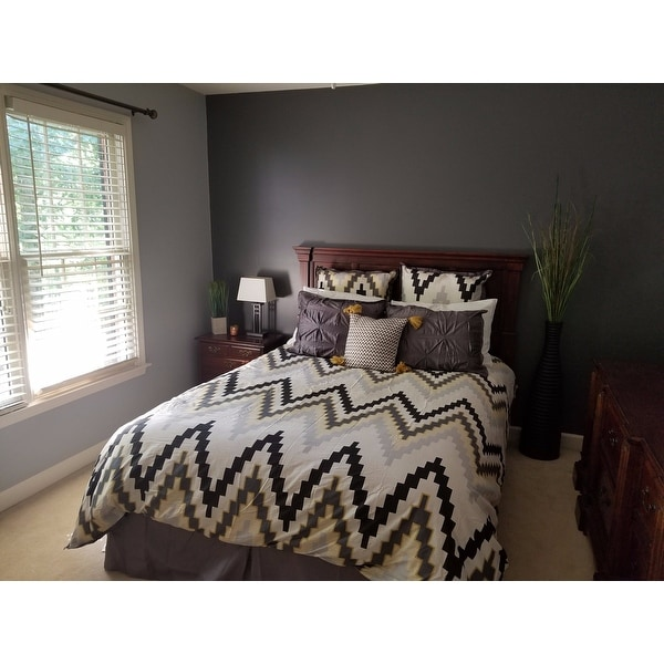 Blissliving Home 3 Piece Tanzania Harper Pewter Duvet Cover Set   Free  Shipping Today   Overstock.com   20788726