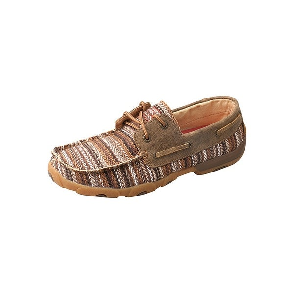 Twisted X Casual Shoes Womens Leather Moc Toe Rubber Brown Tan - Brown Tan