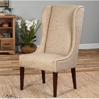 Wing Natural Linen Dining Chair Free Shipping Today