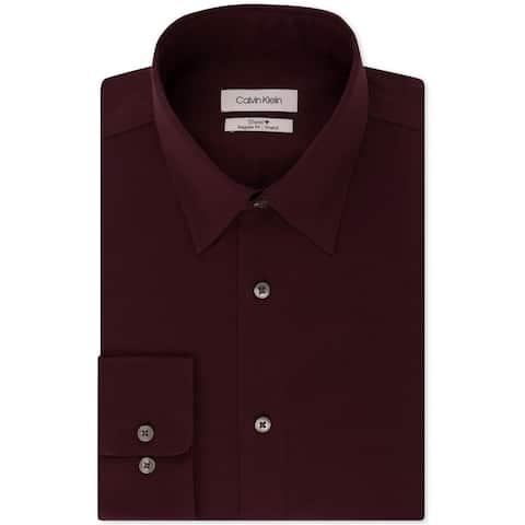Calvin Klein Mens Steel Stretch Button Up Dress Shirt