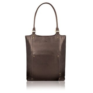 Solo Executive Leather-Poly Bucket Tote, Espresso Executive Leather/Poly Bucket Tote
