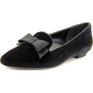 Vaneli Gabbie Women Pointed Toe Canvas Black Loafer