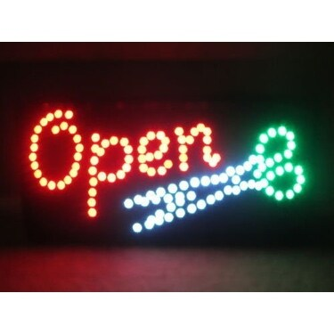 2xHome Highly Visible Bright Open Multi-Color LED Restaurant, Business, Cafe, And Store Sign