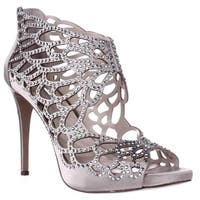 I35 Sarane Rhinestone Caged Dress Sandals, Bisque