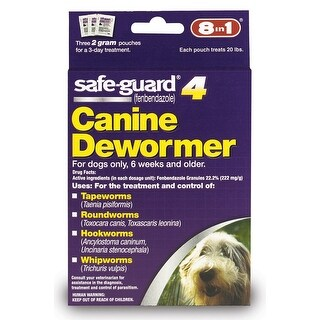 8 in 1 Safeguard 4 Canine Dewormer for Medium Dogs 2gm