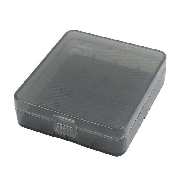 81mmx73mmx23mm Hard Plastic Battery Storage Case Box Organizer