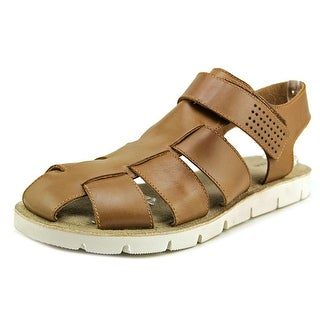 Dune London Fishing boat Men Open-Toe Leather Brown Fisherman Sandal