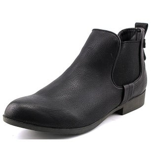 Madden Girl Draaft Round Toe Synthetic Ankle Boot