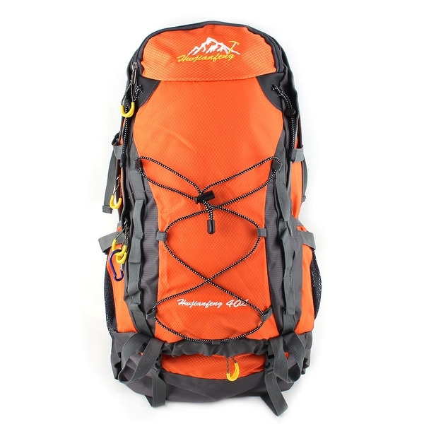 Unique Bargains HWJIANFENG Authorized Pack Water Resistant Sport Bag Hiking Backpack Orange 40L