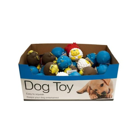 Bulk Buys DI339-48 Animal Characters Dog Squeak Toys