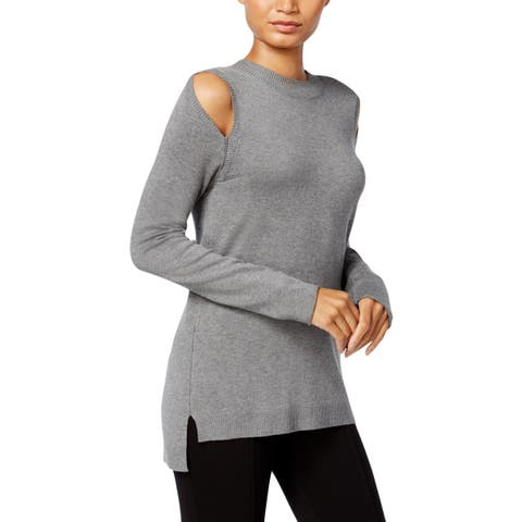 Kensie Womens Pullover Sweater Cold Shoulder Day To Night