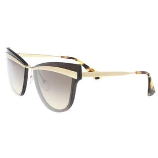 6df003c2f0d1 Quick View.  178.99. Prada PR 12US KJM3D0 Brown Cat Eye Sunglasses ...