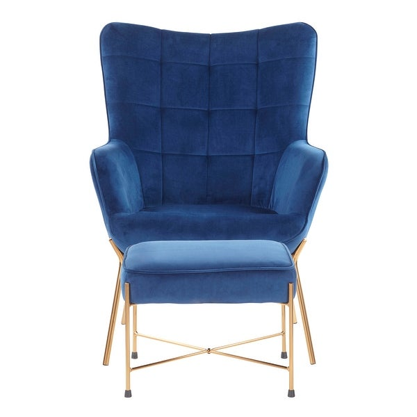 Izzy Lounge Chair with Ottoman - N/A. Opens flyout.