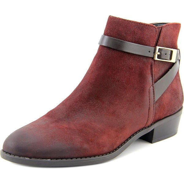 Franco Sarto Shandy Women Round Toe Leather Burgundy Bootie
