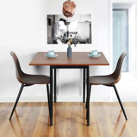 Mid-Century Modern Leah Walnut Wood Dining Table