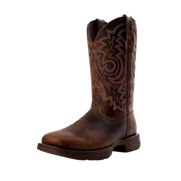 "Durango Work Boots Mens 12"" Rebel Steel Toe Pull On Brown DB4343"
