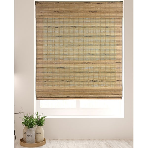 Arlo Blinds Tuscan Bamboo Roman Shades with 60 Inch Height. Opens flyout.