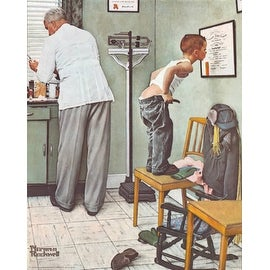 ''Before the Shot'' by Norman Rockwell Americana Art Print (14 x 11 in.)