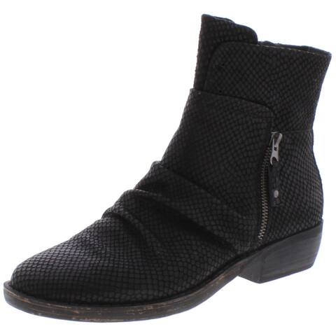OTBT Womens Yokel Ankle Boots Distressed Printed - New Black