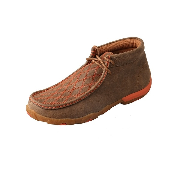 Twisted X Casual Shoes Womens Lace Up Mocs Bomber Orange