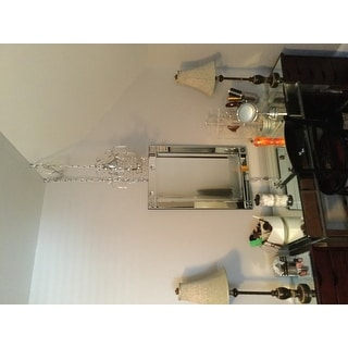 Cynthia 1-light Crystal 11-inch Chrome Swag Lamp