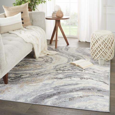 Gatlin Abstract Gray/ Cream Area Rug