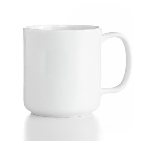 The Cellar Dinnerware Whiteware Square Mug - White - 14 oz.