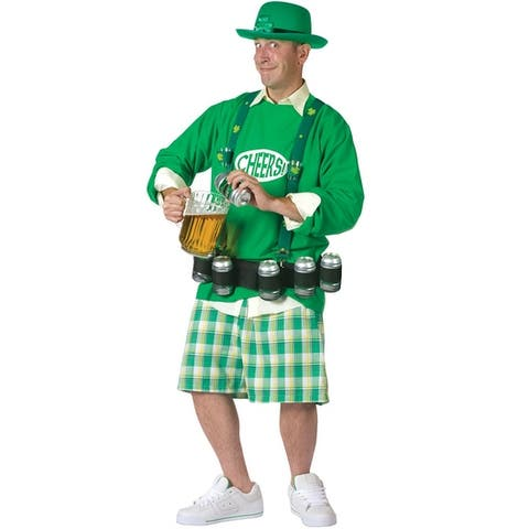 Fun World Cheers and Beers Adult Costume - Green - One Size Fits Most