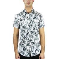 Palm Tree Print Button Down Shirt (BS-02)