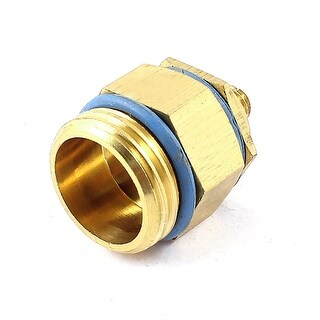 Garden Lawn Irrigation 1/2PT Thread Flat Fan Spray Nozzle Gold Tone Blue