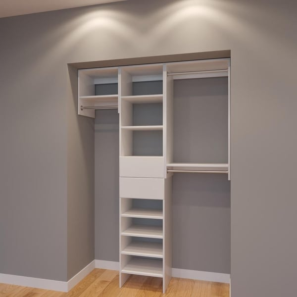 Do It Yourself Home Design: Shop Modular Closets 5 Ft Plywood Closet Storage Organizer