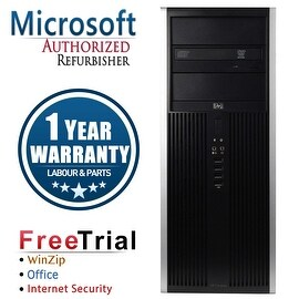 Refurbished HP Compaq 8000 Elite Tower Intel Core 2 Quad Q6600 2.4G 8G DDR3 1TB DVDRW Win 7 Pro 64 1 Year Warranty