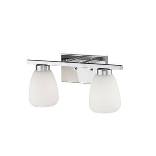 """Millennium Lighting 242 2 Light 16"""" Wide Bathroom Vanity Light with Glass Shades (4 options available)"""
