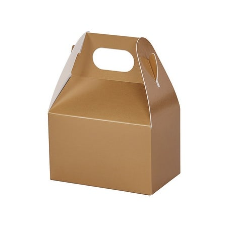 """Shop Pack Of 6, Metallic Gold Mini Gable Boxes 4 x 2.5 x 2.5"""" Perfect For Candy & Favor Boxes, Gift Basket Fillers & Small Gift - Free Shipping On Orders ..."""