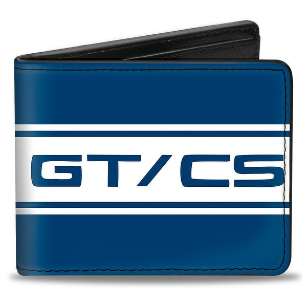 Ford Mustang Gt Cs Stripe Blue White Bi Fold Wallet - One Size Fits most