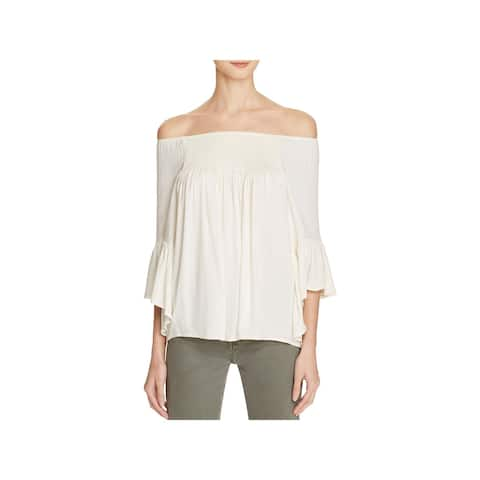 Ella Moss Womens Strapless Top Crepe Breathable