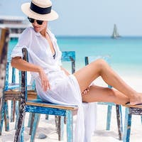 White Maxi Sundress and Beach Cover-Up