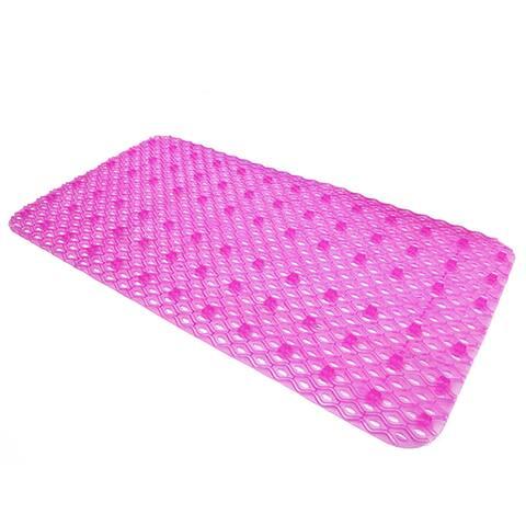 PVC Wave Pattern Anti-skidding Massage Foot Mat - pink