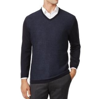 Ryan Seacrest NEW Navy Blue Mens Size Medium M Pullover V-Neck Sweater