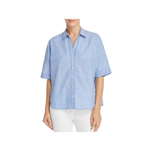Joie Womens Button-Down Top Button-Down Back Cuff Sleeve