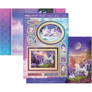 Over The Rainbow - Hunkydory Unicorn Utopia A4 Topper Set