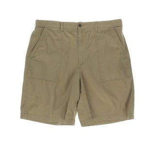 Geoffrey Beene Mens Textured Flat Front Casual Shorts