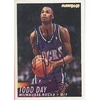Todd Day Milwaukee Bucks 1994 Fleer Autographed Card This item comes with a certificate of authenticity from Autograp