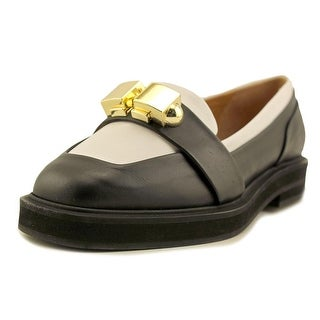 Carven Officer Bijoux Round Toe Leather Loafer|https://ak1.ostkcdn.com/images/products/is/images/direct/fc6fc0465358365f50b3826db0854d64f3e13d22/Carven-Officer-Bijoux-Round-Toe-Leather-Loafer.jpg?_ostk_perf_=percv&impolicy=medium