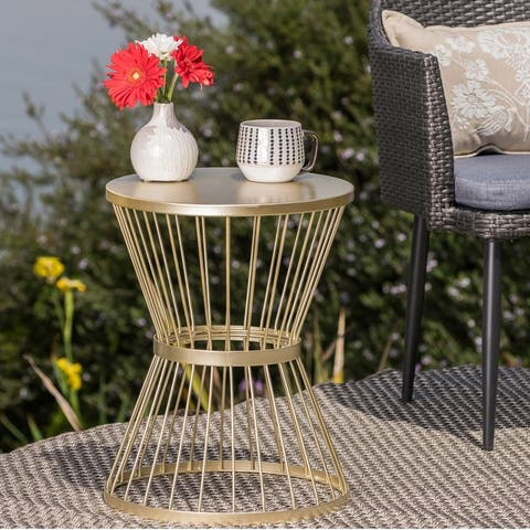 Lassen Hand-crafted Round Iron Side Table by Christopher Knight Home