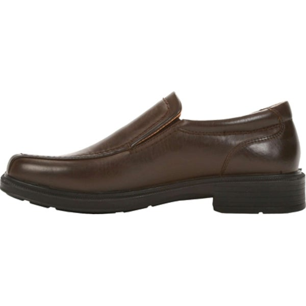 Deer Stags Mens Greenpoint Leather Slip On Dress Oxfords, Dark Brown, Size 11.0