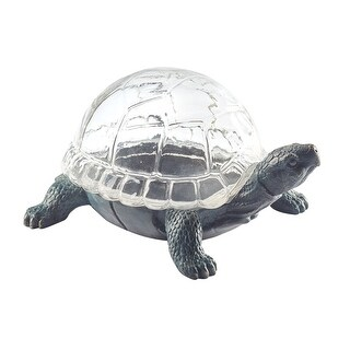 Art & Artifact Turtle Shaped Glass Terrarium - Glass Shell Dome Indoor Flower Succulent Planter - 7 in. x 29 in.