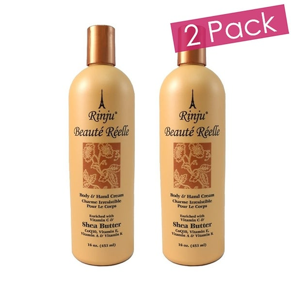 Rinju 2-Pack Beaute Reelle Body And Hand Lotion, 16 Ounces - Orange - N/A