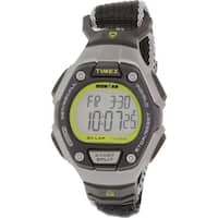 Timex Women's Ironman  Black Cloth Quartz Sport Watch